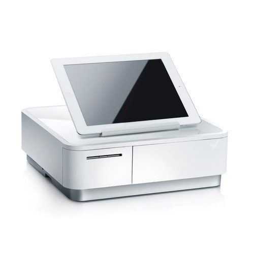 Star Micronics mPOP, White, Flat Cash Drawer, Integrated Printer, AIO Tablet Stand, New