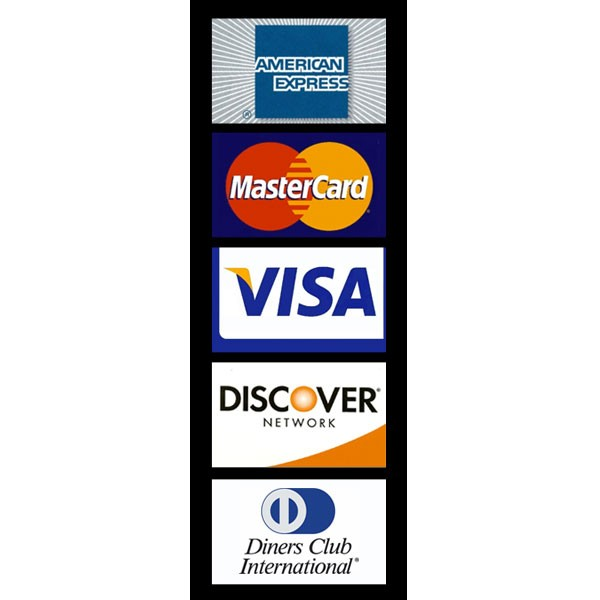 Decal, Door, MC/Visa/Discover/Amex/Diners Club (7 x 2 3/4 inch)