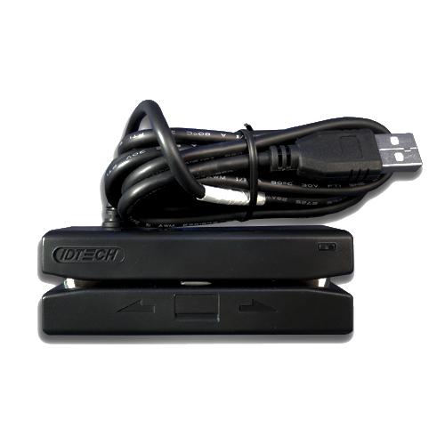 Corrected IDT, SecureMag, USB-HID, TK 3, Black, Card Reader