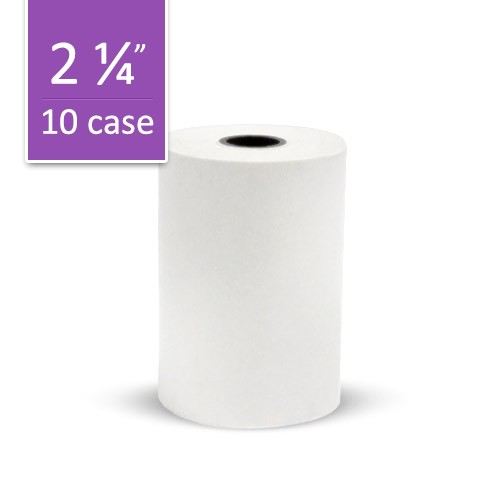 VeriFone NURIT 2085 Paper Roll: 1-Copy, Thermal - Case of 10