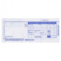 Form, Truncated Sales Slips, 80Col, 2 Copy, Carbonless