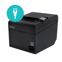 Color Corrected Epson TM-T20II | Ethernet Receipt Printer | Gray